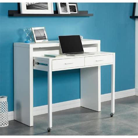 bureau de bureau extensible 110 cm blanc achat vente