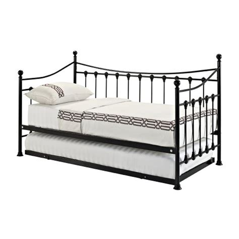 Versailles French Day Bed And Trundle Black Metal Frame Where To Buy Metal Bed Frame