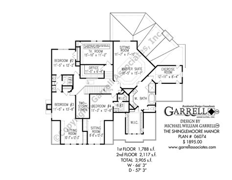 shinglemoore manor house plan house plans by garrell