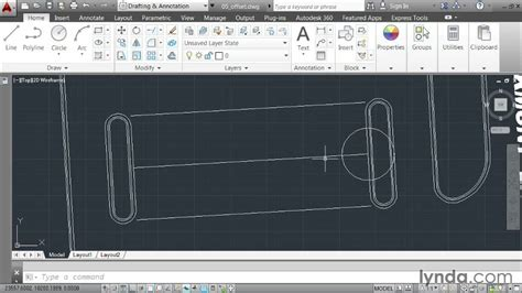 autocad 2014 essential training 1 interface and drawing creating offsets autocad 2014 essential training 2