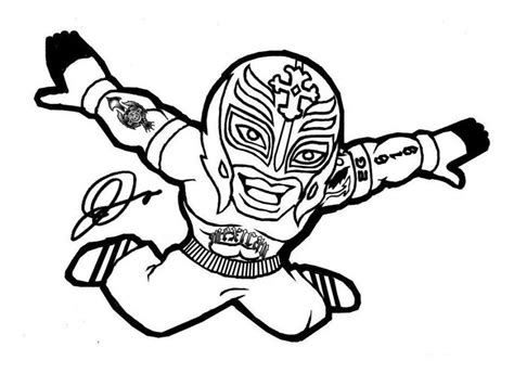 Wwe Wrestling Coloring Pages Coloring Home Wrestler Coloring Pages