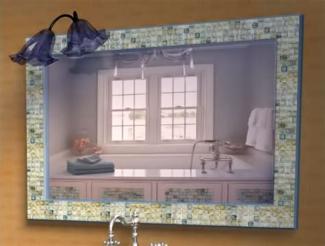 do it yourself framing a bathroom mirror musselbound adhesive tile mat diy do it yourself projects