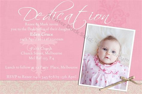 Baby Dedication Invitation Baptism Invitation Christening Invitation Mother Duck Said Quot Lets Baby Dedication Card Template