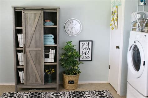 affordable farmhouse laundry room makeover