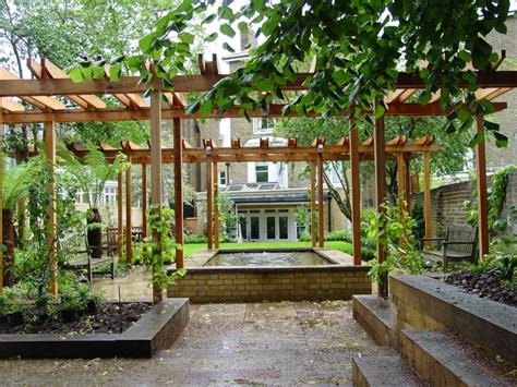 sallis chandler garden with pergola and garden room
