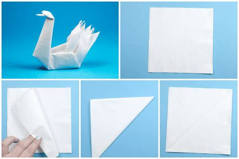 Paper Napkin Folding Swan - how to make an origami napkin swan