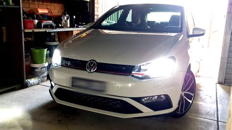 vw gti led lights vw polo 6c gti led fog light upgrade