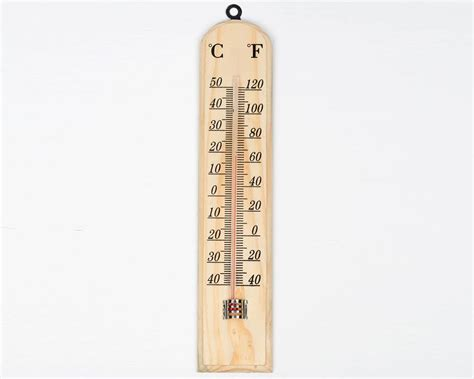 Tidy Home Cleaning wooden wall thermometer