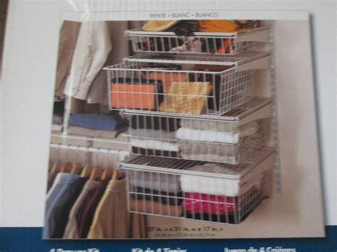 closetmaid 4 drawer kit closetmaid shelftrack 4 drawer kit home
