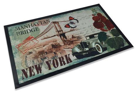 tappeto zerbino tappeto zerbino steven new york manhattan bridge cm 45x75