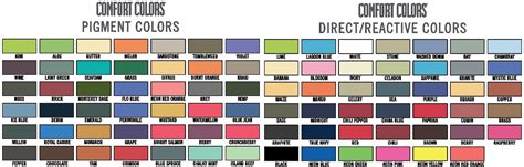 comfort color t shirt colors comfort colors shirt color chart istriku t shirt