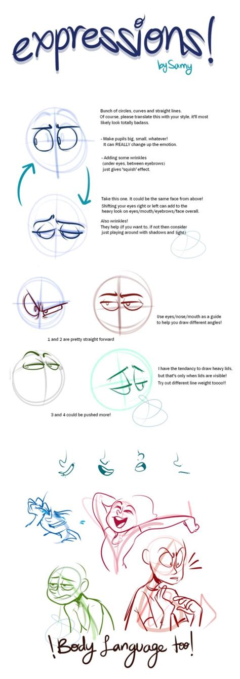 tutorial design character expressions pt 2 by elixirmy on deviantart