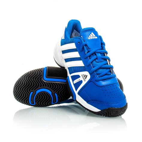adidas barricade team 3 xj boys tennis shoes blue white black sportitude