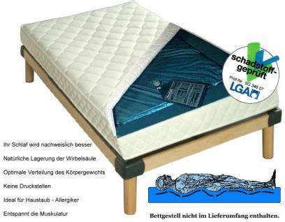 wasserbett oder matratze wasserbett matratze quot exklusiv quot h 246 he 16 cm komplette