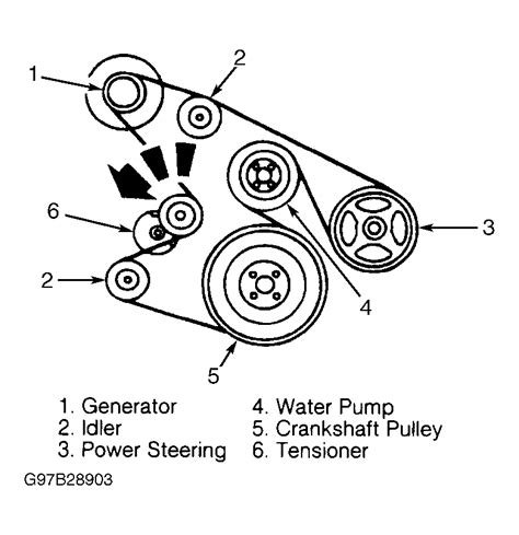 1999 ford f150 belt diagram 1998 ford expedition serpentine belt routing and timing