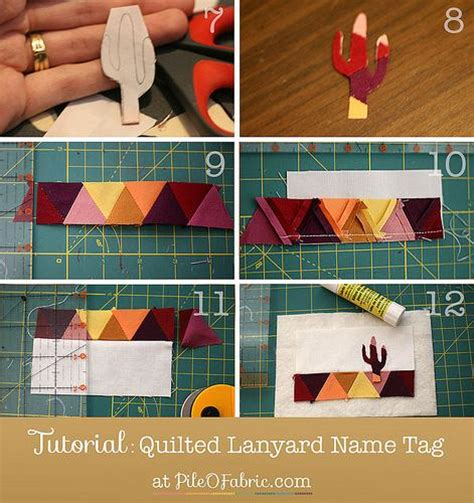 pattern for name tags tutorial quilted lanyard name tag pile o fabric