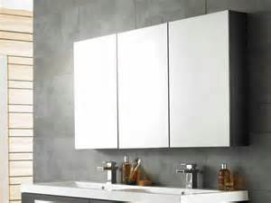 cool bathroom cabinets cool bathroom mirror cabinets with three panels storage