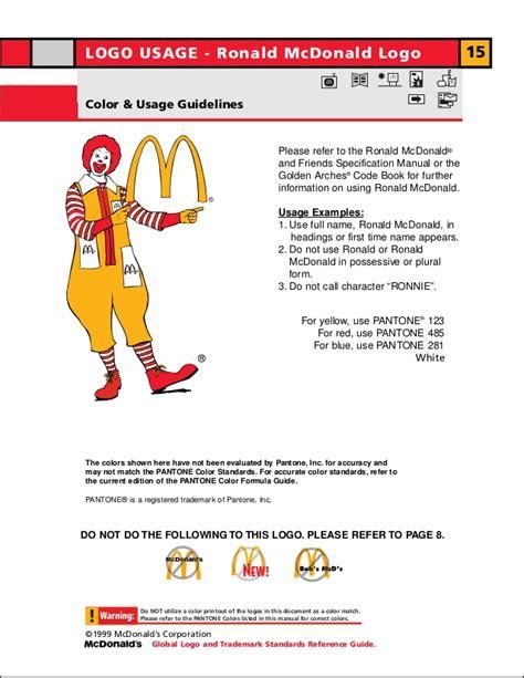 Mcdonald S Official Letterhead Manual De Identidade Visual Do Mcdonald S