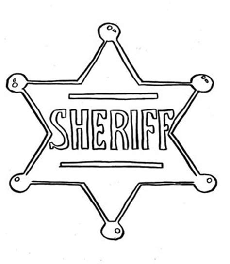 sheriff badge coloring page www imgkid com the image