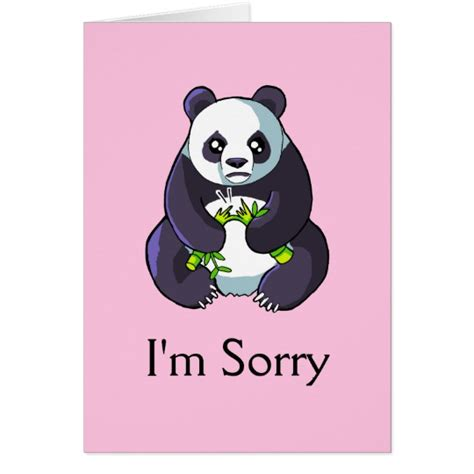 I M Drawing A by I M Sorry Sad Panda Drawing Card Template Zazzle