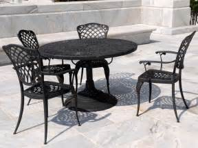 Metal Patio Table And Chairs Set by Wrought Iron Patio Furniture Outdoor Design