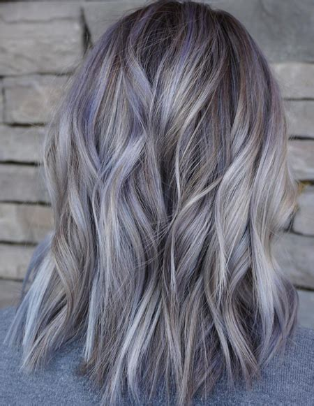 hairstyles for slightly grey highlighted hair grey hair highlights pictures life style by modernstork com