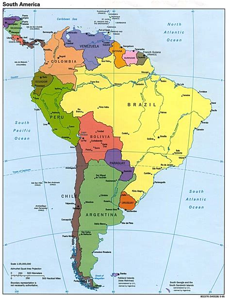 political maps political map of south america free printable maps
