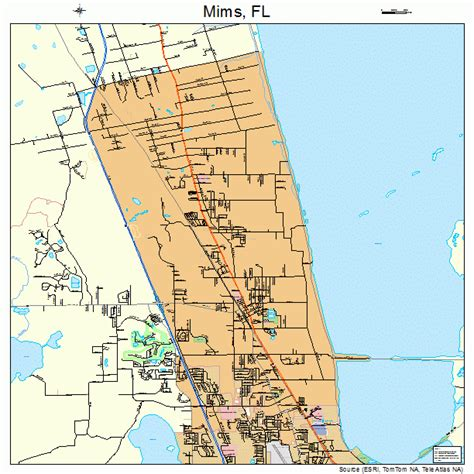 where is mims florida on map mims florida map 1245775