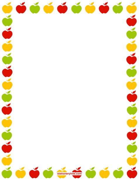 free printable apple stationery printable apple stationery and writing paper free pdf