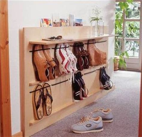 diy hanging shoe rack diy space saving hanging shoe rack the idea king
