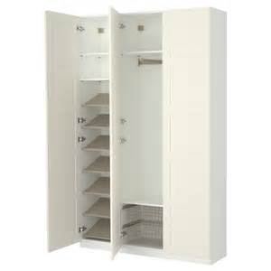 creative white wooden ikea wardrobes with chic shoe rack