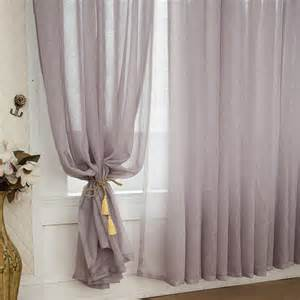 Gray Burlap Curtains Grey Color Solid Burlap Sheer Curtains