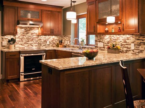 brown kitchens designs inexpensive kitchen backsplash ideas pictures from hgtv