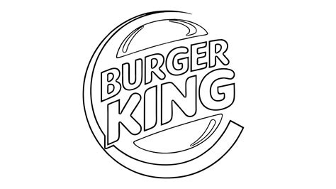 burger king coloring pages how to draw the burger king logo youtube