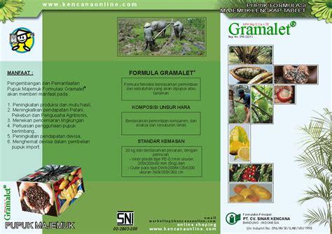 pedoman dosis pupuk tablet gramalet pada tanaman keras tahunan