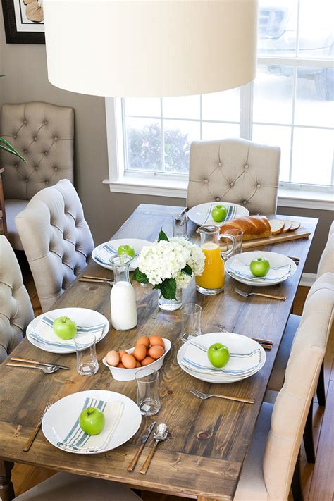 farmhouse breakfast table set how to build a rustic farmhouse dining table the home