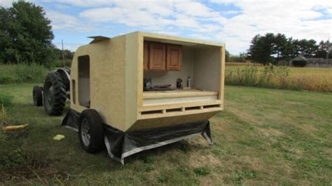 Tiny House On Wheels Plans Free by Diy Micro Camping Trailer I Built For Cheap