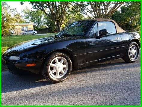 mazda convertible black 1993 mazda mx 5 miata 5 speed manual convertible 1992 1991