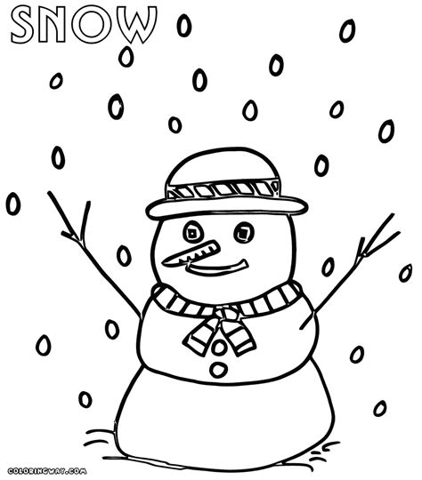 snow coloring pages coloring pages to download and print