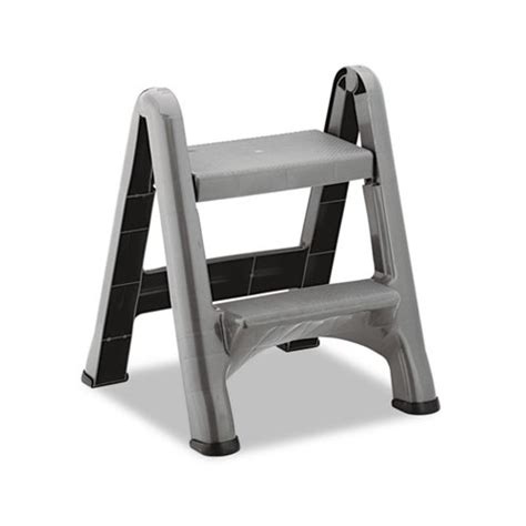 Rubbermaid 2 Step Folding Stool by Rubbermaid 2 Step Folding Plastic Step Stool