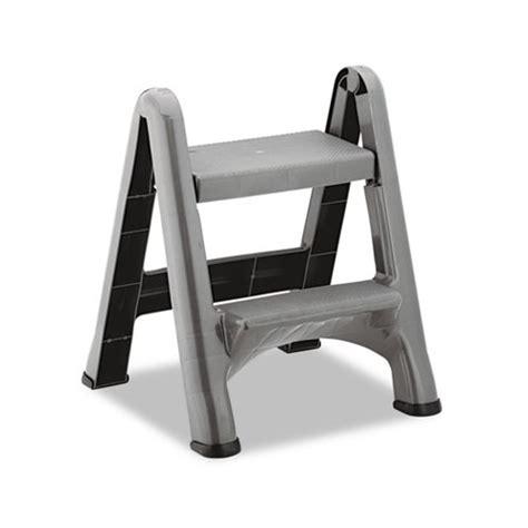 rubbermaid 2 step folding plastic step stool