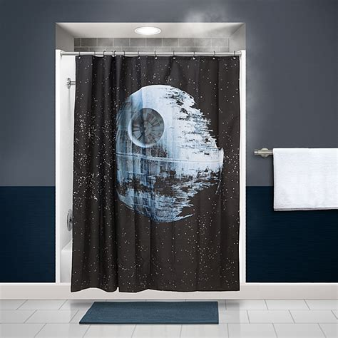 star wars shower curtains star wars death star shower curtain thinkgeek