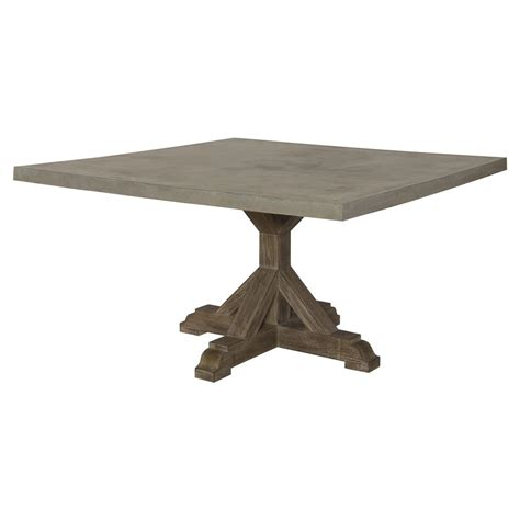 Outdoor Trestle Table by Lenore Country Trestle Square Top Teak Outdoor