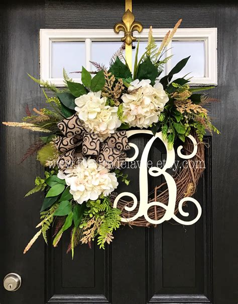 Fall Front Door Wreaths Best Seller Wreaths For Front Door Front Door Wreaths Fall Door Wreaths Hydrange Wreath