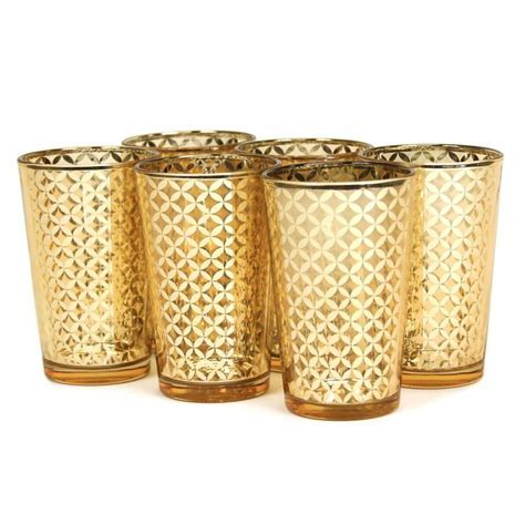 17 Best ideas about Gold Votive Candle Holders on