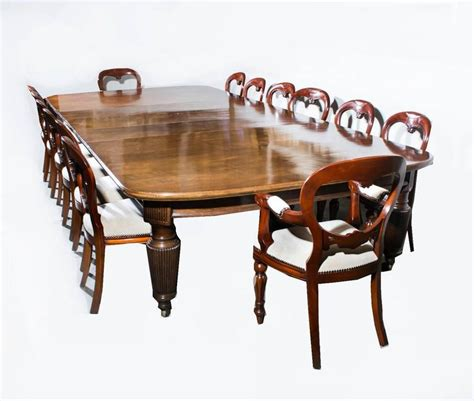 antique extending dining table 14 chairs circa 1880 at