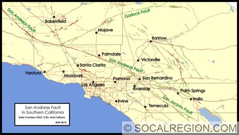 springs in southern california map san andreas fault in southern california southern