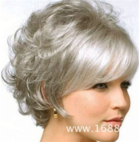 ladies new fashion trend alert grey hair weave is the new fad in fashion wig new charm women s short silver gray full wigs