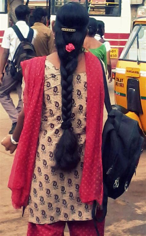 tamilnadu hairstyles images tamil nadu girl in braided long hair style decorated wirh