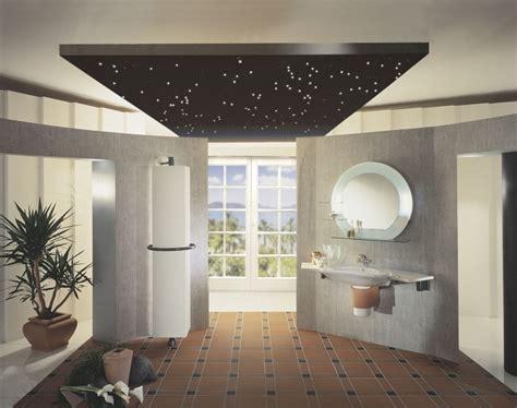 deckengestaltung bad badezimmer beleuchtung die aufmerksamkeit verlangt